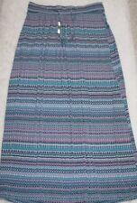 Lane Bryant 14/16 Slinky Colorful Geometric Drawstring Summer Maxi Skirt