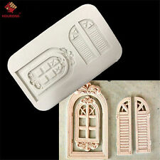 Vintage Door Silicone Soap Mold Polymer Clay Cake Decor Fondant Baking Tools