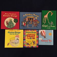 Lot of 6 Children's Picture Books by H.A. Rey: Curious George Series & More