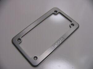 Bimota Logo License Plate Frame - CNC Machined Brushed Aluminum - NOS