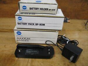 Minolta Maxxum MD-90 Motor Drive + BP-90M Battery Pack & NP-90M Battery