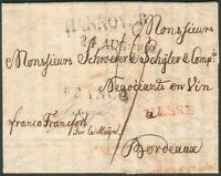 Hannover Brief nach Bordeaux/Frankreich 22. Aug. 1812 mit kompl. Inhalt, RARE