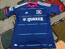 VERY NICE ADIDAS CLIMACOOL MLS CHICAGO FIRE QUAKER YOUTH BOYS JERSEY L