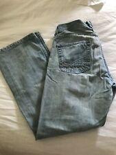 Reclaim mens low rise boot leg denim jeans 33x30