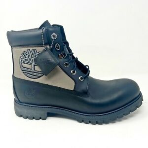 Timberland Mens 6 inch Premium Waterproof Boots Size 11.5 Black Gray 36040