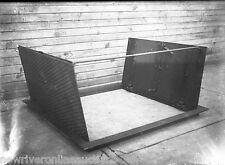 Antique 5x7 Glass Plate Negative SW Pennsylvania Steel Sidewalk Cellar Door Open