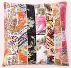 Patchwork Kantha Decorative Sofa Throw Pillow Cushion Cover Bohemian Boho Indian