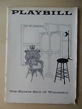 November 1957 - National Theatre Playbill - The Square Root Of Wonderful