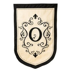 """REDUCED from $28.95 - Estate Size Monogram """"O"""" Double Applique Flag (36""""x54"""")"""