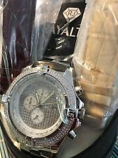 Rayalty Superb brand new Gents chronograph watch with 1.00 ctw diamond besel!!