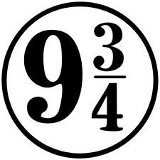 HARRY POTTER Platform 9 3/4 Die Cut Decals Stickers Vinyl  Buy 2 get 1 free
