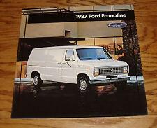 Original 1987 Ford Econoline Van Sales Brochure 87