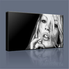KATE MOSS STUNNING BLACK & WHITE ICONIC CANVAS POP ART PRINT PICTURE ArtWilliams