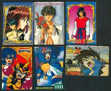 6 ANIME MEGAMAN, FUSHUGI YUGI, ZENKI & BTX Philippine TEKS / Trading Cards