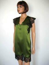 MARJOLAINE NUISETTE verte taille 44 Lylou 100% SOIE green BABYDOLL size XL