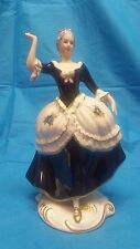 Royal Dux Bohemia # 3727 Porcelain Figurine Dancing Lady Holding A Rose