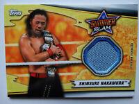 2019 Topps WWE Summerslam MR-SN Shinsuke Nakamura Mat Relic Wrestling Card