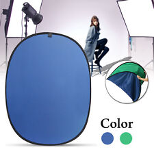 2 In 1 Green/Blue Background Panel Reversible Collapsible Screen Popup Backdrop