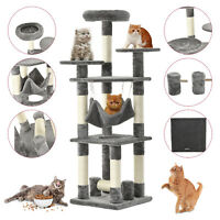 """52"""" Grey Kitten Cat Tree Tower Condo Furniture Scratching Kitty Pet Play House"""