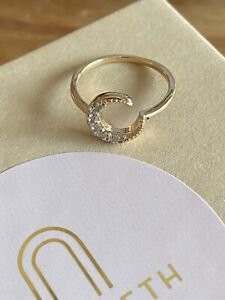 Elizabeth Stone Celeste Moon Ring