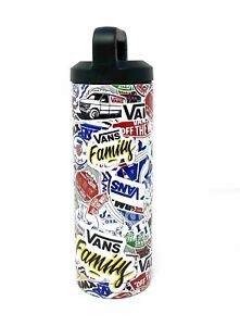 VANS Water Bottle with Exclusive Stickers Print Stainless Steel 18ou Reusable