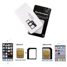 5pcs Nano Adaptador de Tarjeta Micro SIM Lector Aguja Móvil Tableta Smartphone