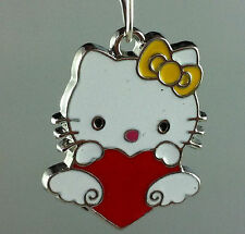 30pcs Silver Plated Enamel Nice Cat Charms 26x21mm L65