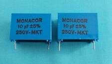 2 x 10uf MKT PCB FOIL CROSSOVER CAPACITORS