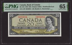 Canada 🇨🇦1954 - $20 Dollars Beattie Rasminsky - PMG Gem UNC 65 EPQ