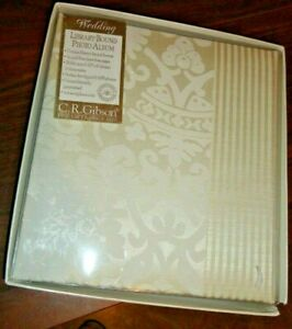 C.R.GIBSON WEDDING LIBRARY BOUND PHOTO ALBUM 36 ACID FREE LATEX FREE PAGES