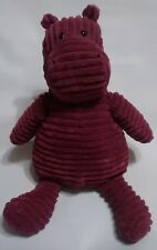 "Jellycat Hippo Cordy Roy Purple Medium 14"" Stuffed Plush Animal Soft Toy"