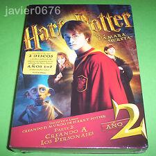 HARRY POTTER Y LA CAMARA SECRETA DVD NUEVO Y PRECINTADO 2 DISCOS DVD + LIBRO