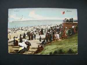 Early Hartmann Postcard of The Beach, Aberdeen. Posted 1903.