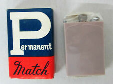 Vtg PERMANENT MATCH TAUPE LIGHTER Made in Japan NOS SEALED Camping Survival US