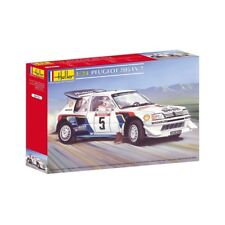 Heller 80716 1:24th scale PEUGEOT 205 EV 2 Rally car Tour of Corsica in 1986