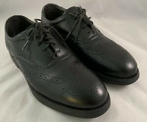 Red Wing 8701 Mens Black Leather Steel Toe Oxfords Shoes Size 8 D