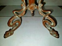 VTG Art Nouveau Deco Arts & Craft 3-Bronze Dragon Serpent Feet Lamp 1900-1940