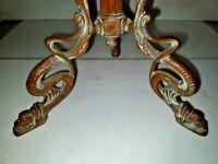 VTG Art Nouveau Deco Arts & Craft 3-Bronze Dragon Serpent Feet Lamp 1900-1940