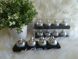 Christmas Silver Bauble Place Card Holders Table Decor Party 12 Seats