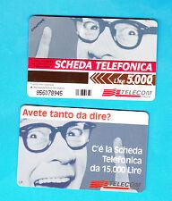 SCHEDA TELEFONICA TELECOM NUOVA  GOLDEN N.606 AVETE TANTO DA DIRE  30.06.99