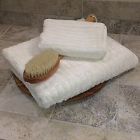 Heavy Plush Bamboo Ribbed Hand Towel - Natural - High Quality, Unbelievably Soft
