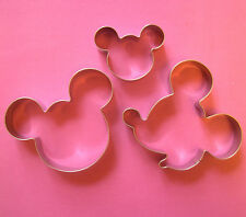 Mickey Mouse Side Face Cookie Cutter Fondant Baking Biscuit Stainless 3pc/set