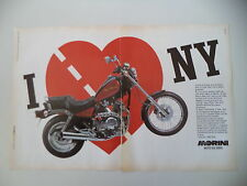 advertising Pubblicità 1989 MOTO MORINI NEWYORK NEW YORK