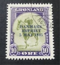 nystamps Greenland Stamp # 22 Used $150