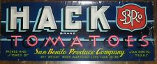 Hack Tomatoes Crate Label San Benito Texas Piedmont File Copy