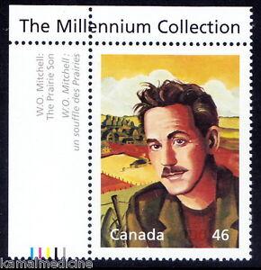 Canada 2000 MNH, Millennium, W.O. Mitchell, A Canadian writer