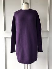 COUNTRY ROAD Italian yarn fluted hem knit grey SIZE: M