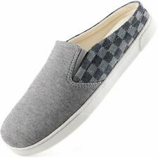 Mens Canvas Slippers Cozy Memory Foam House Shoes with Anti Skip Rubber Sole