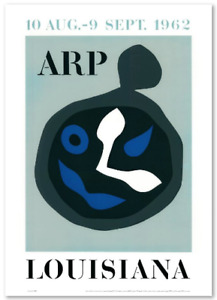 """Jean Arp"" poster of exhibition!!!contemporary art"