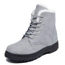 Womens Lady Girl Winter Ankle Boot Faux Suede Warm Short Snow Bootie Martin Shoe